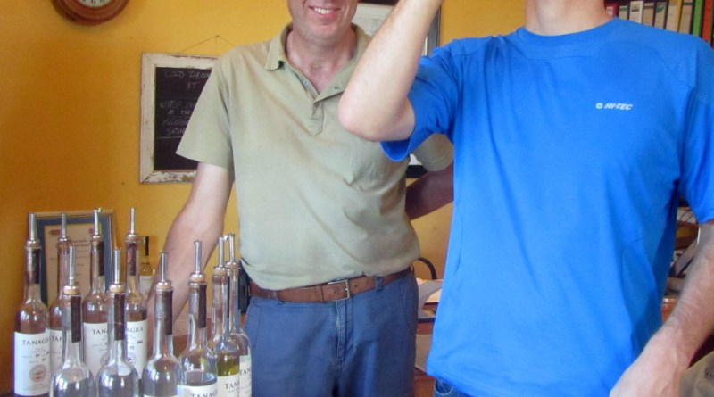 Sampling grappa at Tanagra, McGregor