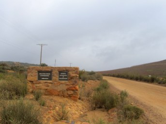 Signage for the Maltese Cross trail-head