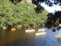 Canoes on the Touw River