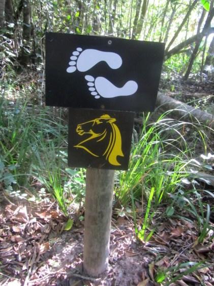 Signage on the Perdekloof Trail