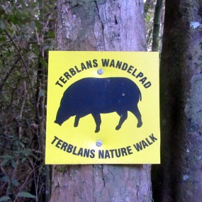Signage for the Terblans Nature walk