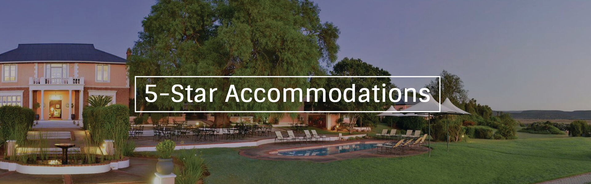 5 Star Accommodation Banner1