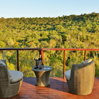Sibuya Bush Lodge Deck Area