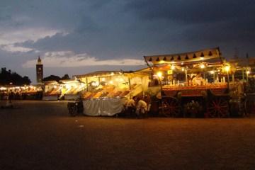 Golden street vendors // Marrakech // Morocco