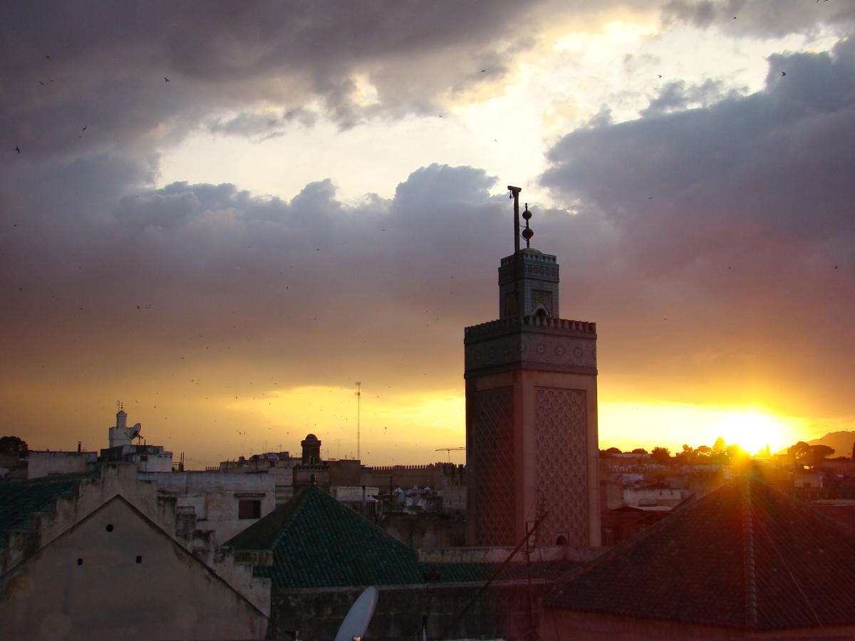 Rooftop sunset // Morocco