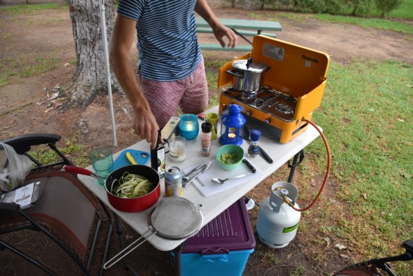 Camping and cooking New South Wales Australia