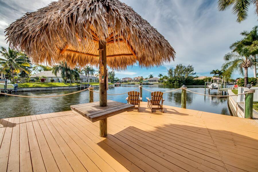 Dock mit Ausblick in Ferienhaus Cape Coral
