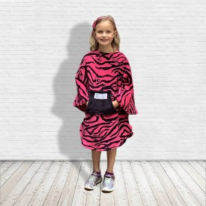 Child hospital gift pink poncho cape