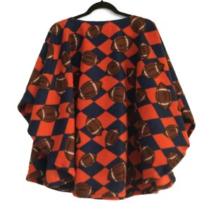 Football Fleece Poncho Cape