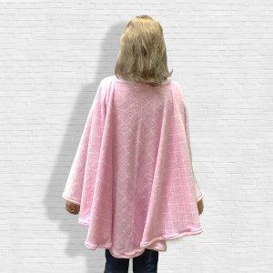 Pink Fleece Poncho Cape