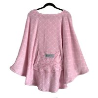 Women's Gift Pink Warm Fleece Poncho Cape