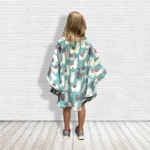 Child Fleece Poncho Lamas