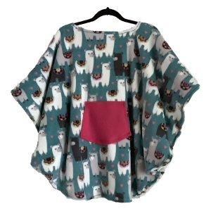 Hospital Gift Child's Fleece Poncho Cape Lamas