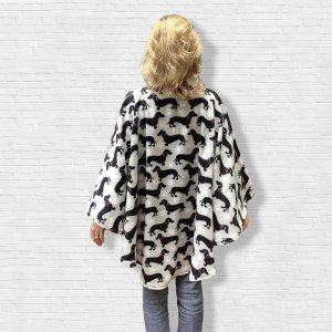 Adult Fleece Poncho Cape Ivy Dachshund Wiener dogs