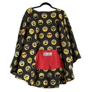 Adult Teen Hospital Gift Emojis Fleece Cape Poncho