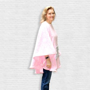 Hospital Gift Warm Cape Poncho side view