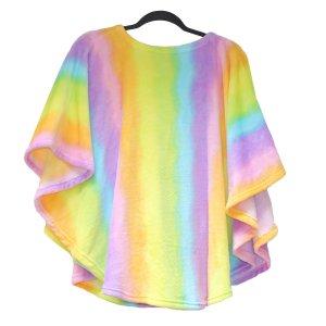 Child Cape Ivy Rainbow Fleece Poncho