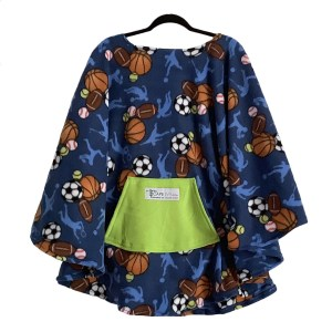Adult Hospital Gift Fleece Poncho Cape Ivy All Sport