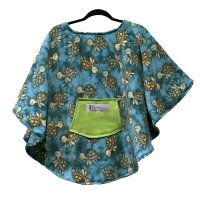 Child Hospital Gift Fleece Poncho Cape Ivy Turquoise Turtles