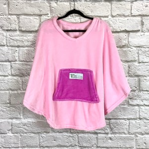 Child Girl Hospital Gift Fleece Poncho Cape Ivy Pink