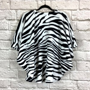 Child Hospital Gift Fleece Poncho Cape Ivy Black White Zebra