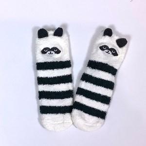 Child Small Adult Fluffy non-slip gripper socks Cape Ivy Pandas