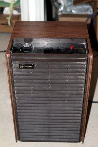 old brown dusty dehumidifier