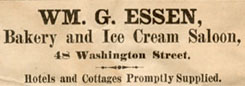 Ad for Essen's in the  Cape May Daily Wave 1886