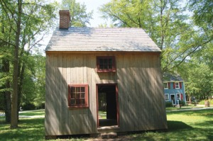 Coxe Hall Cottage, circa 1691, restored by Jamie Hand, currently relocated to Historic Cold Spring Village.
