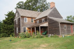 Jamie Hand's restored home at his farm in Goshen, New Jersey.