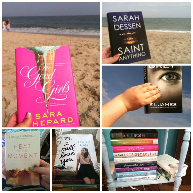 Some of the books I read this summer, on the beach.