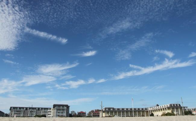 Spray-painted sky