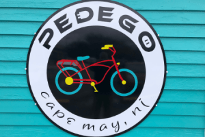 Pedego sign on a building