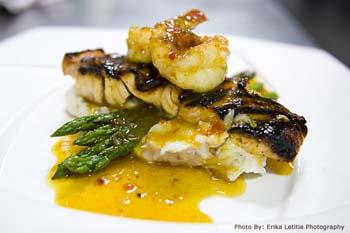 Plated entree at Tisha's Restaurant