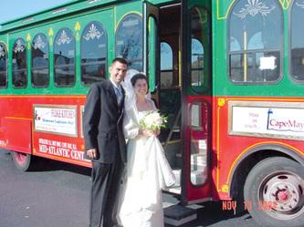 cape may wedding trolley