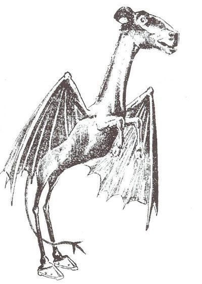 The Jersey Devil as depicted in the Philadelphia Post,