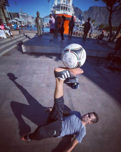 Kyle Rinquest from Cape Town Freestyle doing what he loves - Playing with a Soccer Ball.