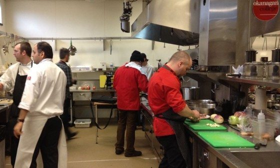 Patrik Garland (and sous chef Mark Currier somewhere back there) hard at it.