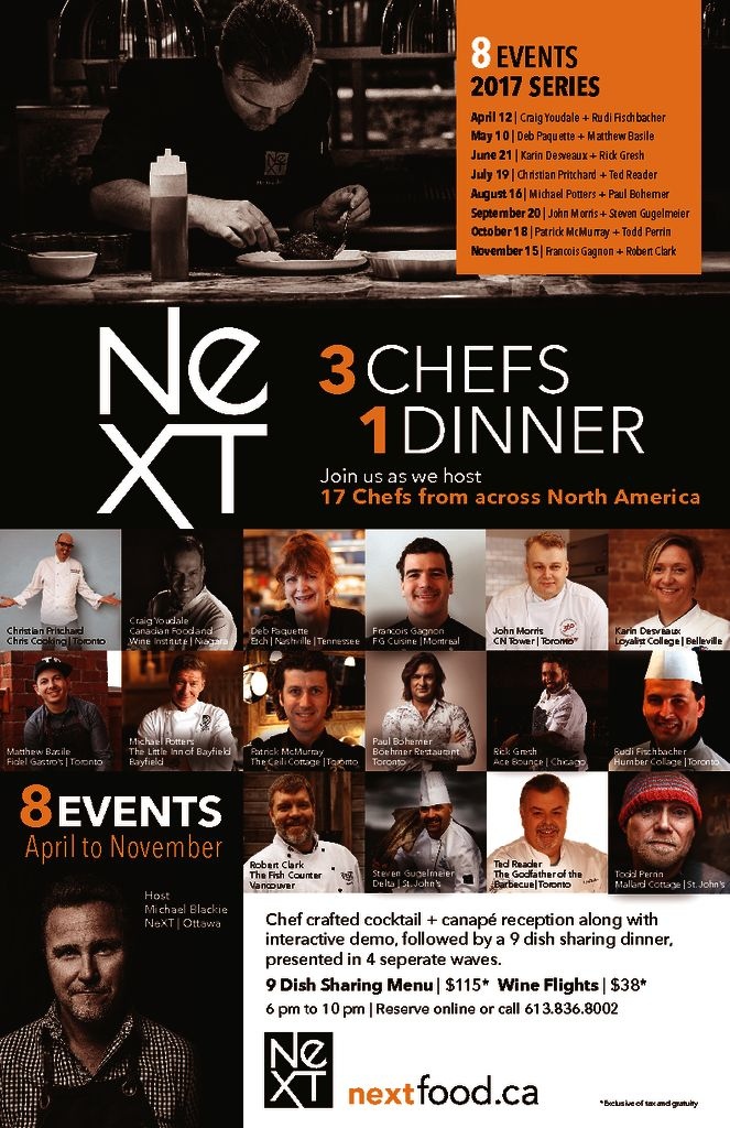 thumbnail of NeXT 3CHEF1DINNER 2017 Series