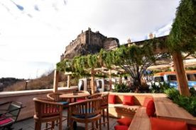 Cold Town Beer roof terrace in Edinburgh