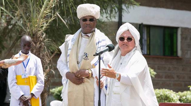 Sr. Grace Gupana standing next to Kenya's ambassador to Tel Aviv Lt. Gen(rtd) Augostino Njoroge. Photo/PSCU
