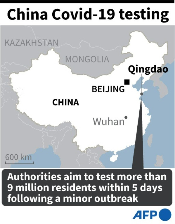 China to test whole city of 9m as Europe rolls out new virus rules
