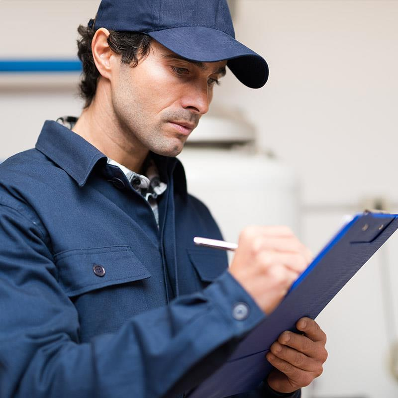 services man inspection 1 - Home