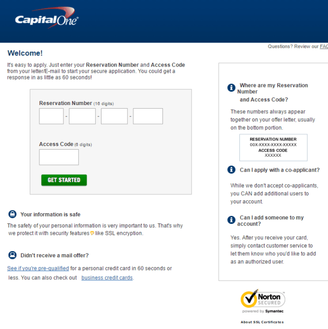 Application.CapitalOne.com