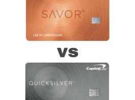 Capital One Quicksilver vs Savor