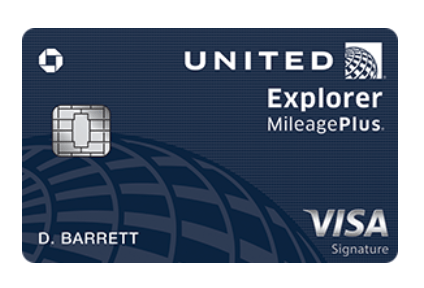 40,000 Bonus Miles Chase.com/United Explorer Card Offer