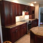 Refacing Dated Oak To Elegant Cherry Capital Kitchen Refacing