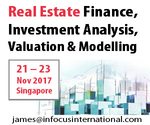 Real Estate Finance, Investment Analysis, Valuation and Modelling 13-17 Nov
