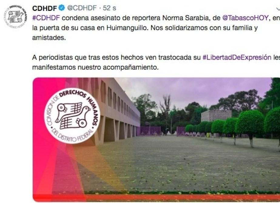 CNDH Norma Sarabia