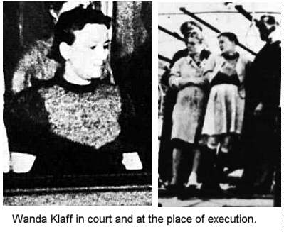 women hanged by the neck